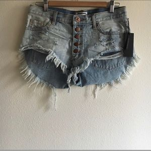 One Teaspoon Florence Rollers Shorts